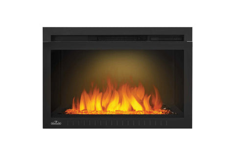Image of Napoleon Cinema 27 inch Electric Fireplace Insert - Glass Series - Firebox Insert - Heater - NEFB27HG-3A - Electric Fireplaces Depot