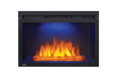 Image of Napoleon Cinema 29 inch Electric Fireplace Insert - Glass Series - Firebox Insert - Heater - NEFB29HG-3A - Electric Fireplaces Depot