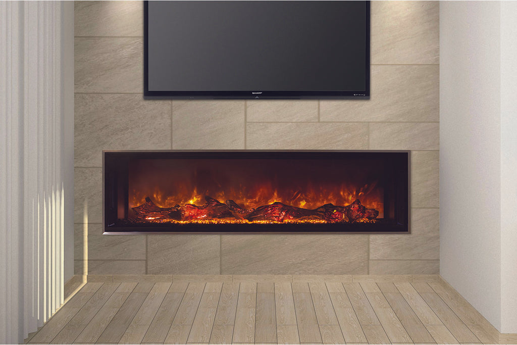Modern Flames Landscape Full View 80 inch Built-In Linear Electric Fireplace - Electric Fireplaces Depot