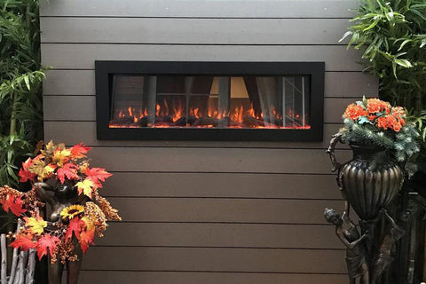 Image of Touchstone Sideline 50 inch Outdoor Buit-in Electric Fireplace - 80017 - Electric Fireplaces Depot