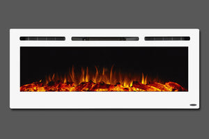 "Touchstone Sideline 50"" Wall-Mount / Recessed Electric Fireplace"