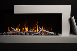 Napoleon Stylus Cara 60'' White Wall Mount Electric Fireplace with Shelf