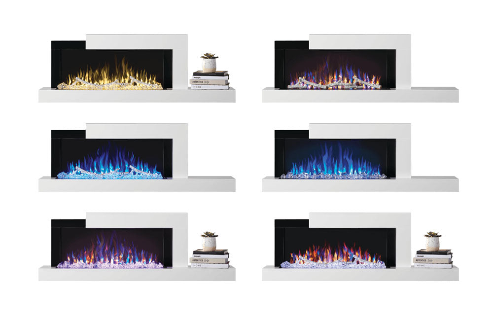 Napoleon Stylus 60'' White Wall Mount Electric Fireplace with Shelf