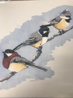 Three Chickadees 8x10 print