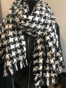 Blanket scarf  Black/White