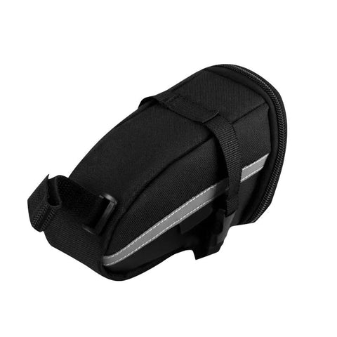 Waterproof bicycle saddle bag- black