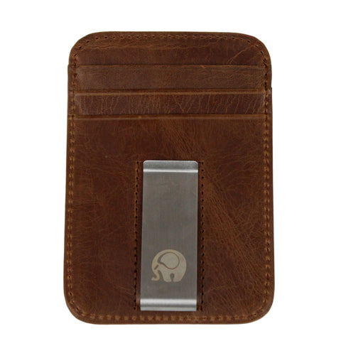 Antimagnetic Multi-Slot Business Card Holder - Brown