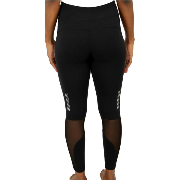 High-Waist Fitness Gym Leggings - Black