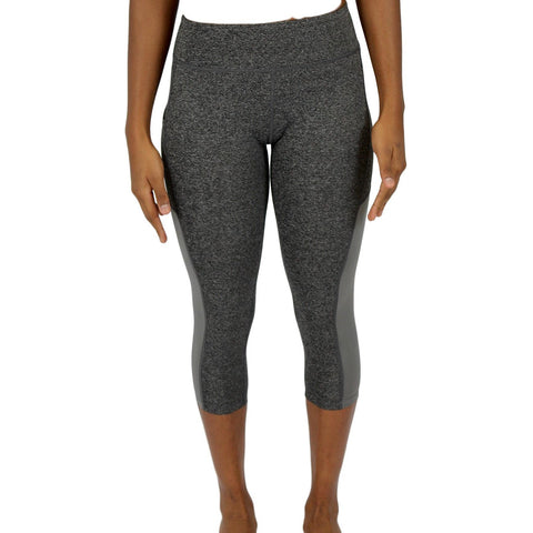 Women Compression Leggings Grey - 3 Quarter