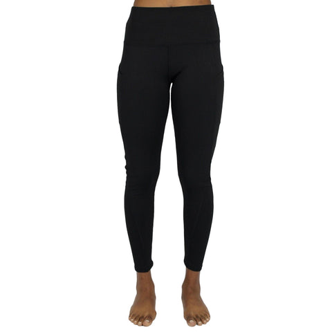 High Waist Sports Leggings - Black