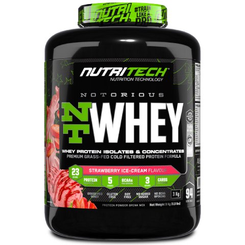 Notorious Nt Whey 6,6Lb - Strawberry Ice - Cream (3Kg)