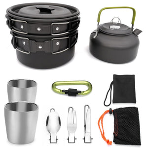 Portable Teapot and Pot Set- black