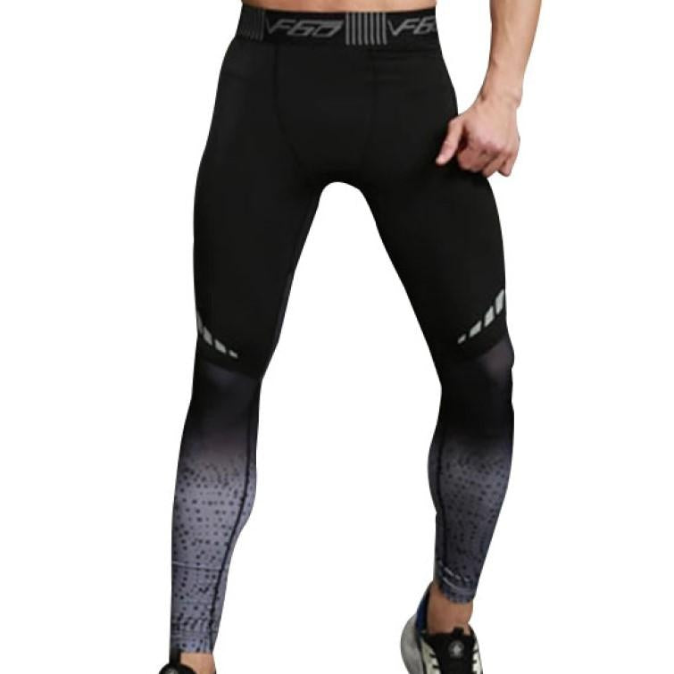 Men's Running Fitness Tights - Black
