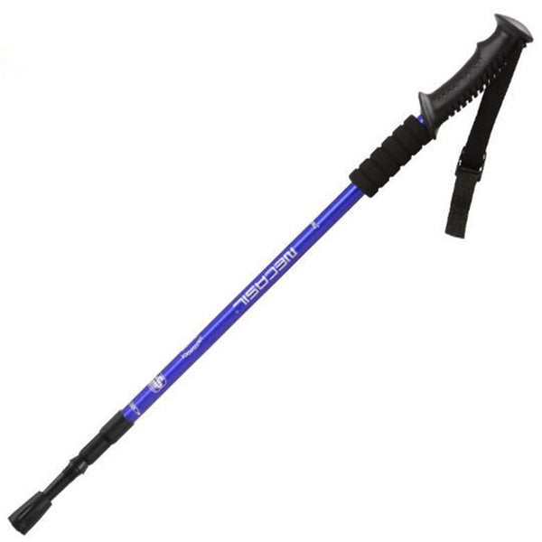 Aluminum Alloy Straight Handle Rectractable Trekking Pole (Blue)