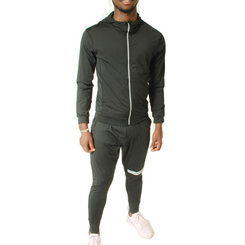 Men's Running Tracksuit 2 Peace Sets - Black