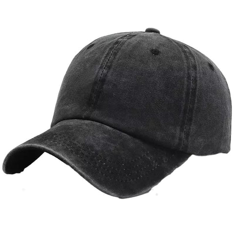 Unisex Cap Plain - Black