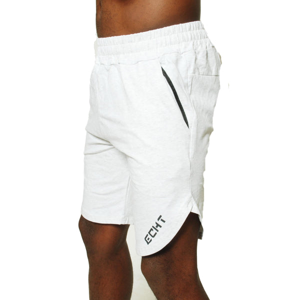 Mens Gym Shorts - White Grey