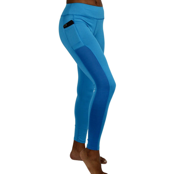 Women Running Tights - Blue