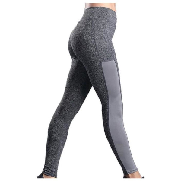 Woman Sports Compression Tights Pants - Gray