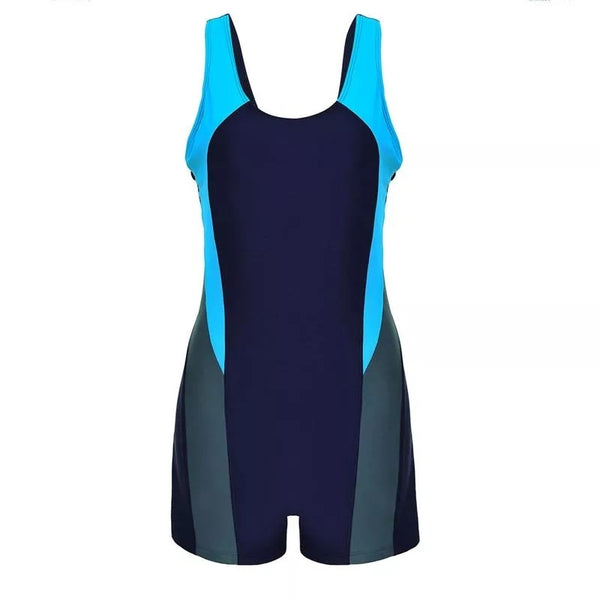 Women Swimwear Bodysuit Elastic - Navy Blue
