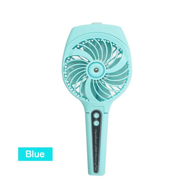 Collapsible Portable Misting Fan Mini USB Handheld Humidifier Mist Water Spray Air Conditioning Moisturizing Fan