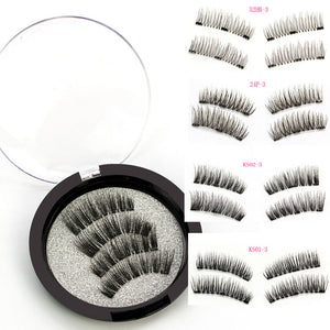 3 Magnetic Eyelashes Extension Natural False Eyelashes on magnets Reusable 3D Magnetic Fake Eye Lashes Makeup Soft Easy To Wear