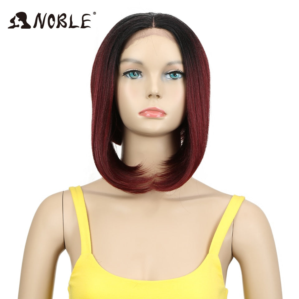 Synthetic Lace Front Wig With Bangs