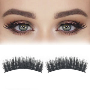 2pcs 3D Magnetic False Eyelashes Arc-Shaped Mink Eyelashes Ultra Thin Light weight Extension Girls Makeup Beauty Tools cilios