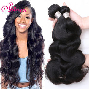 Shireen Hair Company Brazilian Body Wave bundles 4 Pieces  8-30inch Remy Hair Extension 100% Human Hair Weave Natural Color
