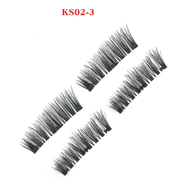 Mangodot Magnetic eyelashes with 3 magnet handmade 3D/6D magnetic lashes natural false eyelashes magnet fake lashes cilios 24P-3