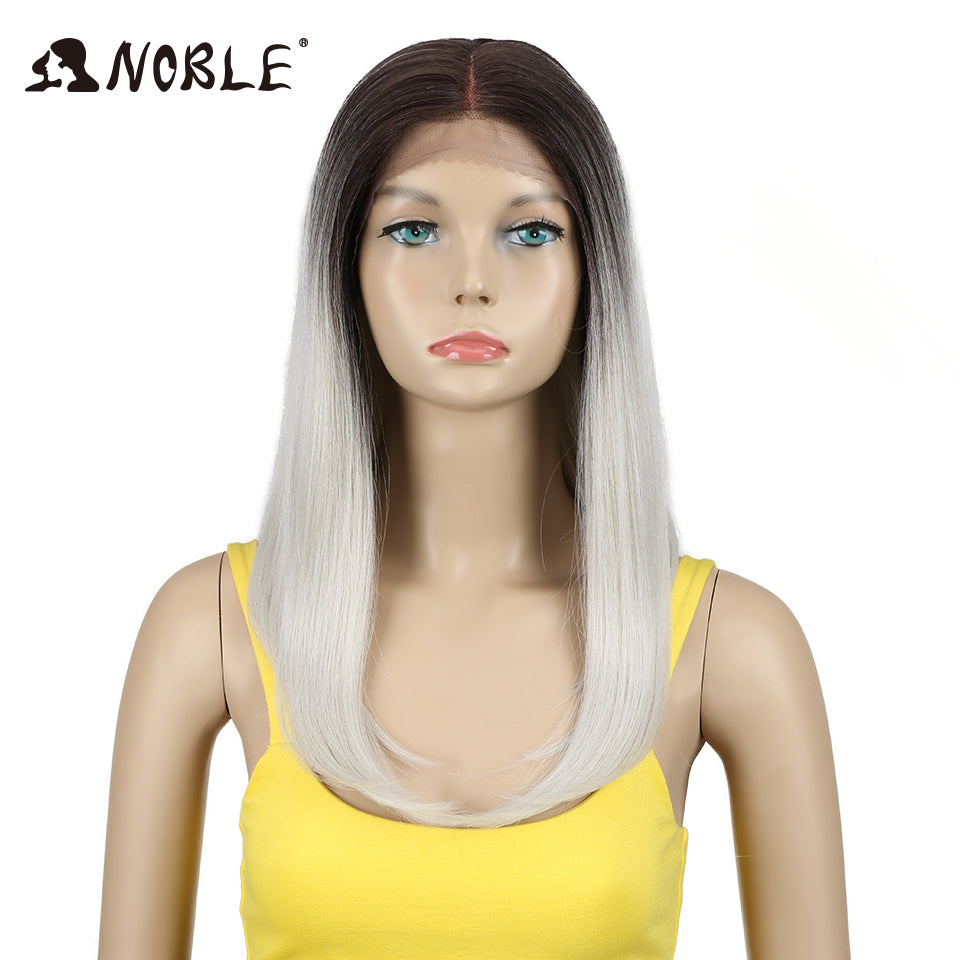 18 Inch Long Straight  Synthetic Lace Front Wig