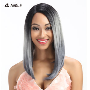 20 Inch Long Silve Kanekalon Synthetic Front Wig
