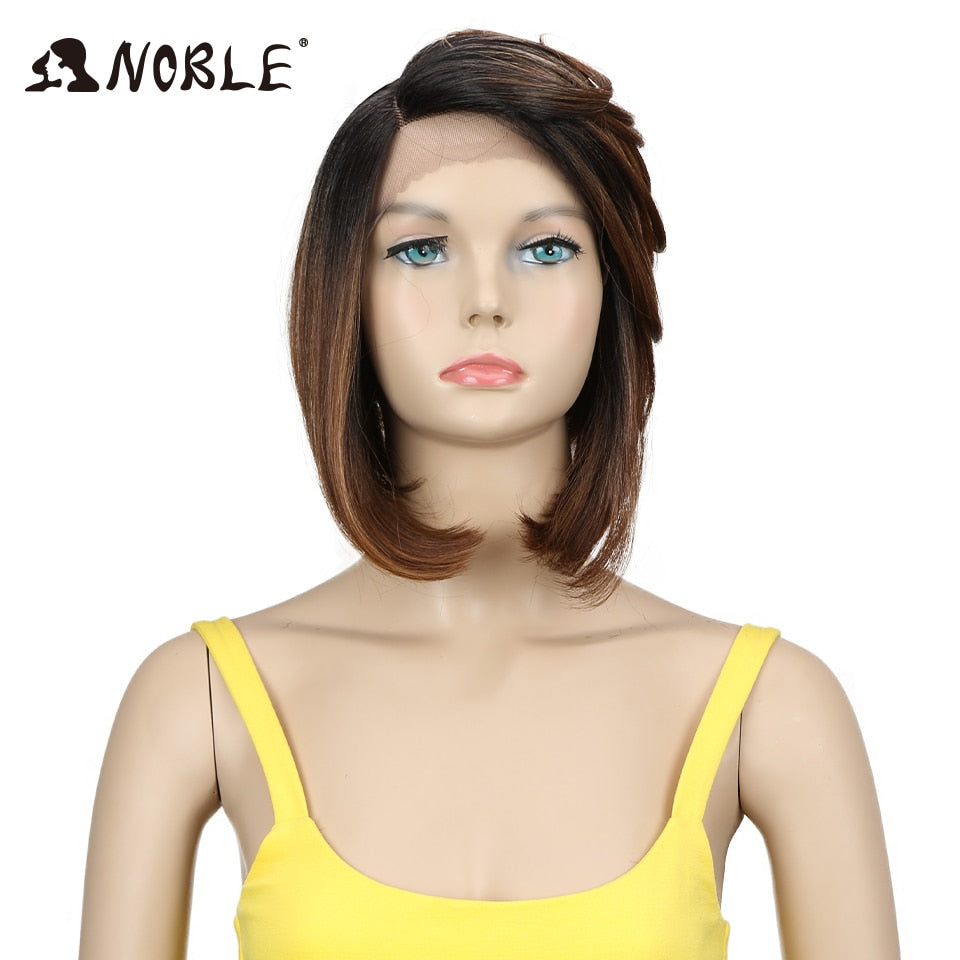 2 Inch 3 Color Short Hair Synthetic Lace Front Wig