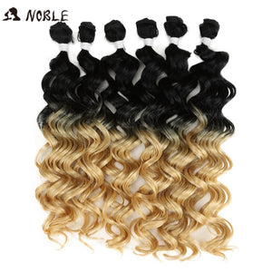 "6 Pcs 24""-28"" Blonde Brown Hair Extension Bundles"