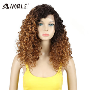 20 Inch Synthetic Hair Curly Long Synthetic Lace Wig