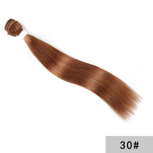 Brown Human Hair Weave Bundles 1PCS Pre-Colored Brazilian Straight Hair Bundles 8-26 Inch Non-Remy Hair Extension KEMY HAIR
