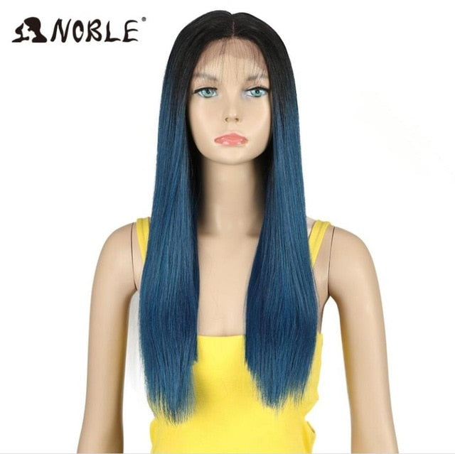 20 Inch long Lace Front Straight Synthetic Wigs