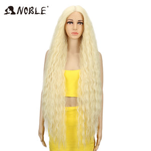 42 Inch Synthetic Wig Long Curly Ombre Blonde Wig
