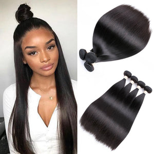 2019 BEAUDIVA Brazilian Straight Human Hair 1/3/ 4 Piece Hair Weave Bundles 8-26inch Natural Color Free Shipping Hair Extension
