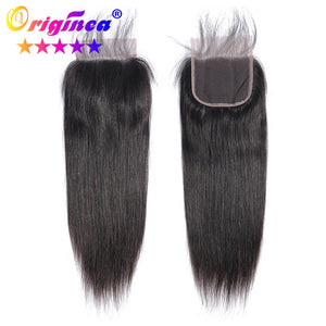 Originea Hair Closure Brazilian Straight Human Hair Lace Closure