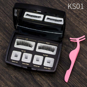 VICILEY Magnetic eyelashes 4 part magnets handmade 3D/6D magnet lashes natural false eyelash comfortable with Gift Box SCT04-1
