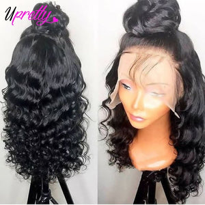 Loose Deep Wave Wig Lace Front Human Hair Wigs Remy PrePlucked Brazilian Frontal Closure Lace Front Wig Loose Curl 250 Density