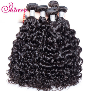 4Bundles Deal Malaysian Water Wave Hair 100% Remy Human Hair Weave wavy Bundles Water Wave Human Hair Extensions cheveux humain