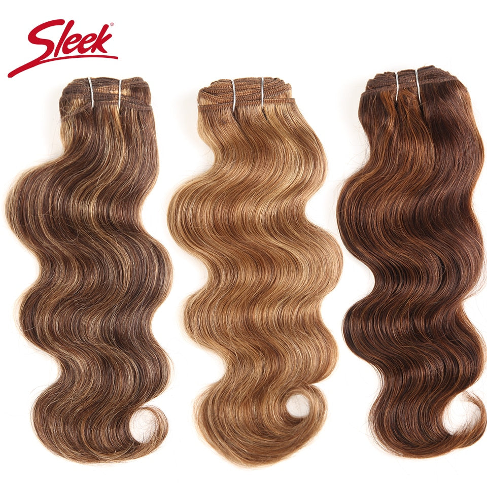 Sleek Colorful Hair Extension Double Drawn Natural Body Wave Hair Brazilian Body Wave Human Hair Weave Bundles Remy Human Hair