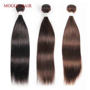 Mogul Hair Indian Hair Weave Bundles Straight Bundles Color 4 Chocolate Brown Black 100% Remy Human hair extension 12-24 inch