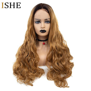 250 Density 1b 27 Ombre Color Body Wave 13x6 Lace Front Human Hair Wigs Glueless Long Black Wigs For Women PrePlucked Remy Hair