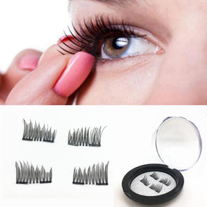 magnetic eyelashes 0.2mm thin False Eyelashes Synthetic Hair magnetic eyelash 3D Reusable extension lashes New 12.14