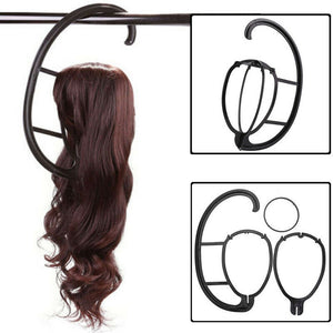 Hanging Wig Stand Portable Plastic DIY Hats Hanger Detachable Display Hair Dryer Holder Tool For Long & Short Wigs Cap