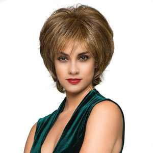European High Temperature Chemical Fiber Synthetic Wigs Women Short Wig