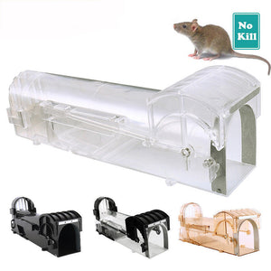 Reusable Non Poison Mouse Trap Rat Mice Mouse Mousetrap Rodent Bait Catcher Cage Safety Greenhouse For Household Garden Use